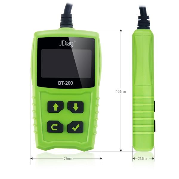 JDiag FasCheck BT-200 Battery Tester Size