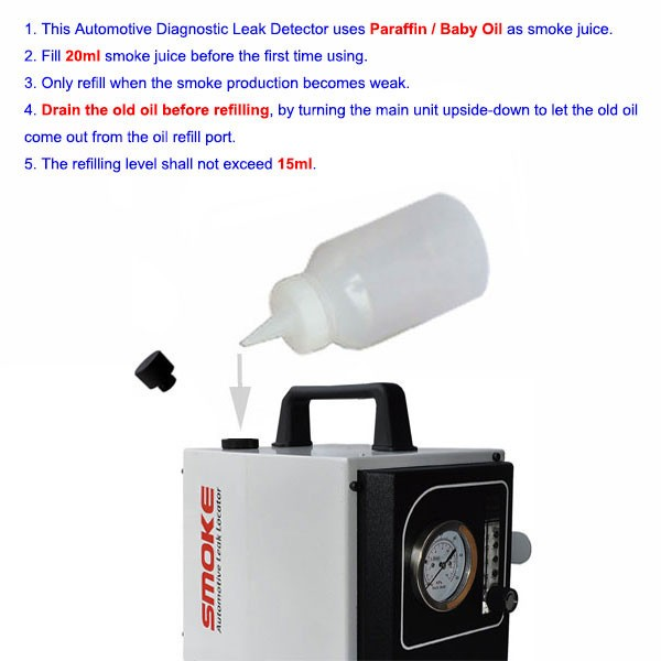 Smoke Automotive Leak Locator How to refill oil