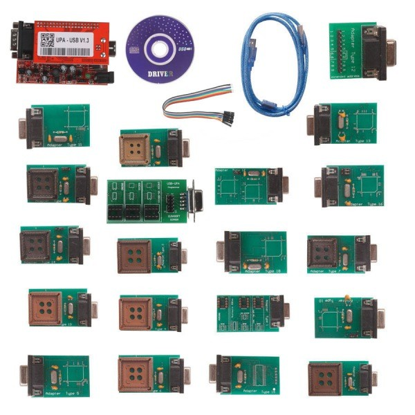 New UPA USB Programmer Full Adaptors With NEC Function