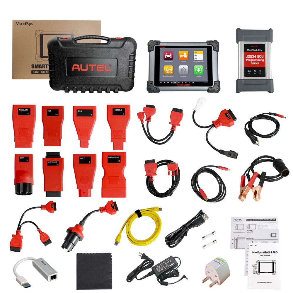 Autel MaxiSys MS908S Pro Packing List