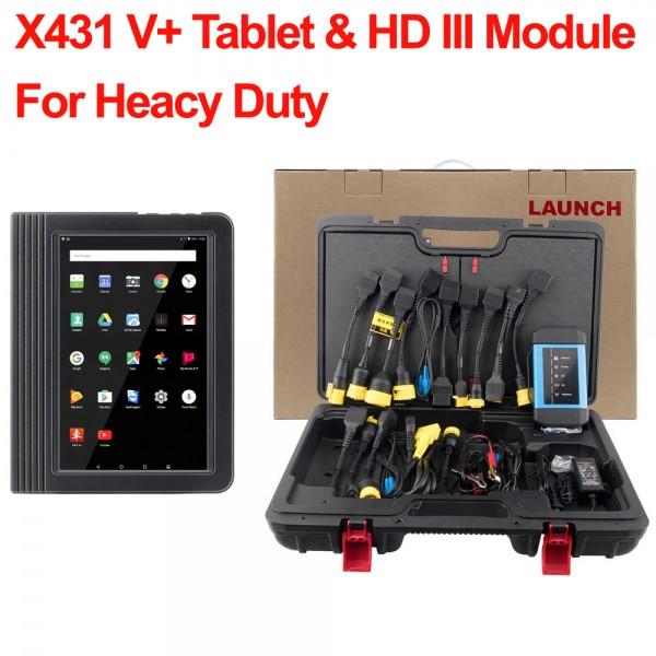 Launch X431 V+ Tablet & HD III Module For 24V Truck Heavy Duty