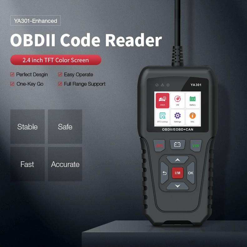 YA301 OBDII/EOBD Code Reader