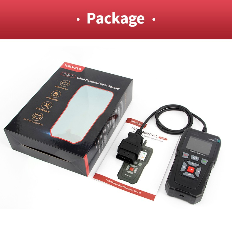 YA301 Packing List