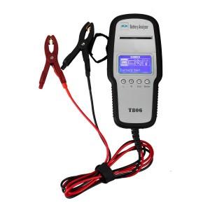 T806 Battery Tester 12V Automotive Battery Analyzer with Printer