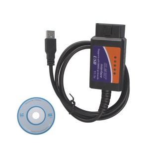ELM327 V1.5 Scanner Software USB Plastic with FT232RL Chip