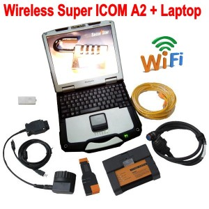 Wireless Super ICOM A2 With Laptop BMW Diagnostic Tool