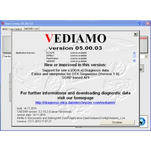 Vediamo Software 5.0.3 For SD Connect C4 Benz Diagnostic Tool