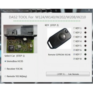 MB DAS2 Immobilizer Remote Calculator
