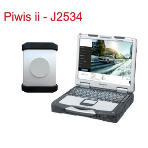 Porsche Piwis Tester II With Panasonic CF30 Touch Screen Laptop J2534 FTDI Hardware