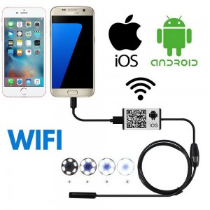 Phone WiFi Endoscope For Andriod IOS Wireless HD 720P Waterproof