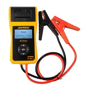 AUTOOL BT660 Battery Analyzer With Built-in Printer BT-660 Car Battery Tester
