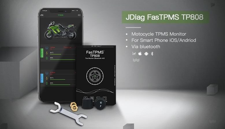 JDiag FasTPMS TP808 Motorcycle TPMS Tool